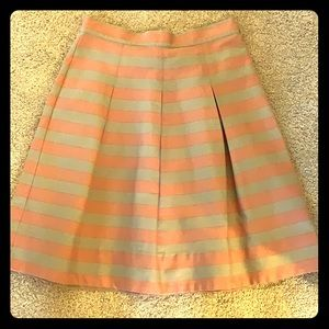 Pink and Gray stripe skirt